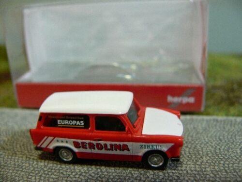 1//87 Herpa Trabant 601 Universal Zirkus Berolina 092739