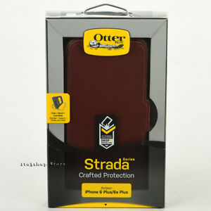 OtterBox-STRADA-iPhone-6-Plus-iPhone-6s-Plus-w-Card-Slots-Wallet-Case-Chic-Red