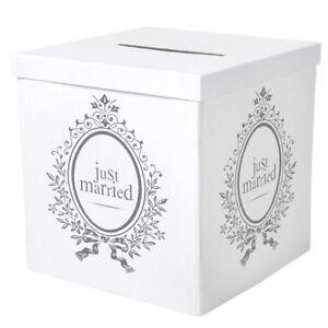 Geldbox-30x30-Geschenkbox-Hochzeit-Just-Married-Geschenk-Box-Deko-Hochzeitsdeko