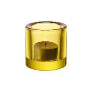 New-IITTALA-GLASS-034-KIVI-034-candle-holder-votive-FINLAND-MARIMEKKO-034-LEMON-YELLOW-034