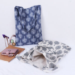 1x-Tree-pattern-linen-bag-tote-ECO-shopping-outdoor-canvas-shoulder-bag-gt