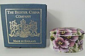 The-Bristol-China-Company-Floral-Lidded-Trinket-Box-Small-Bone-China-England-Box