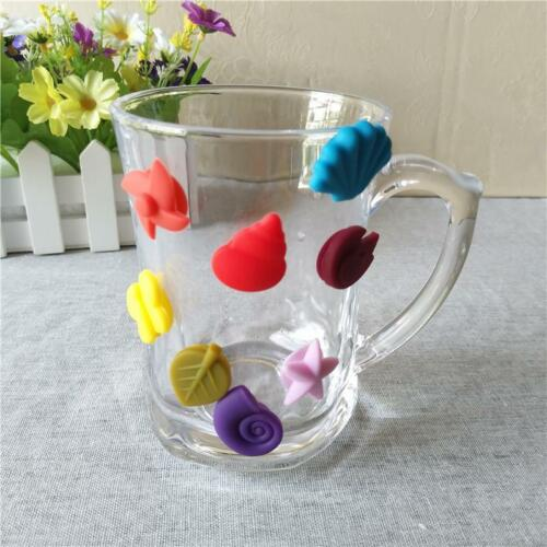 Flower Suction Cup Wine Glass Rubber Label Wine Glasses Recognizer Marker G