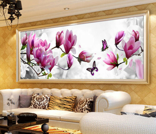 DIY Stickerei 5D Schmetterlinge Magnolia Diamant Malerei Kreuzstich Kits Mosaik