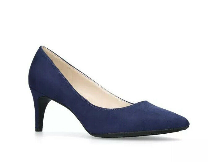 Honig Sh1* Nine West Womens Erika Blue Suede Pointed Courts Uk 5.5 SchöN Und Charmant