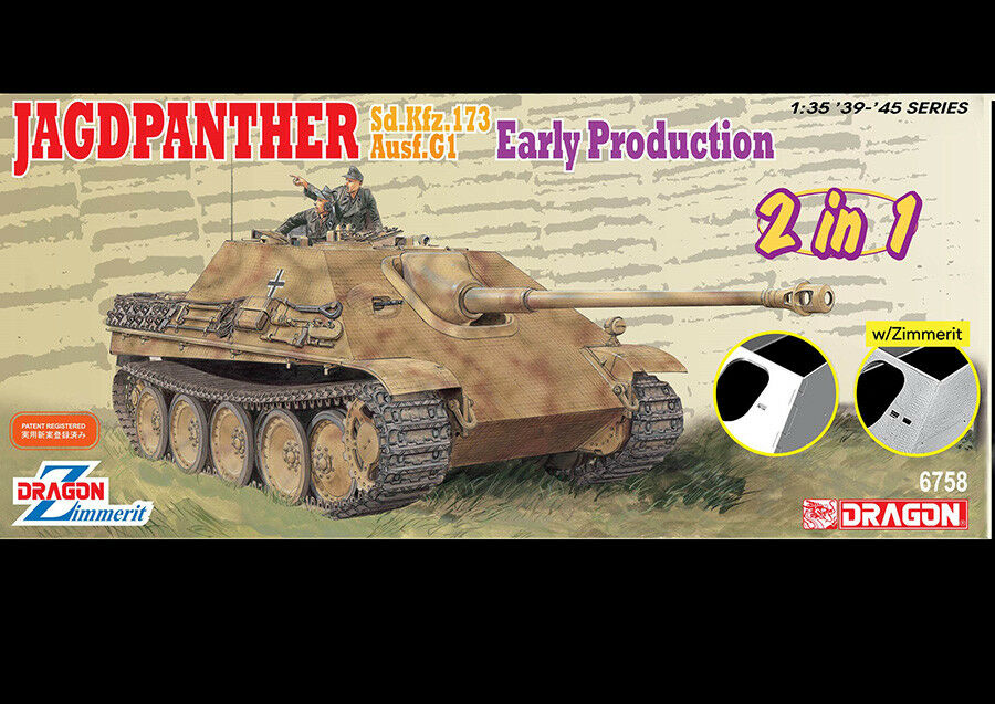 Dragon 1 35 Jagdpanther Early Production [2in1]