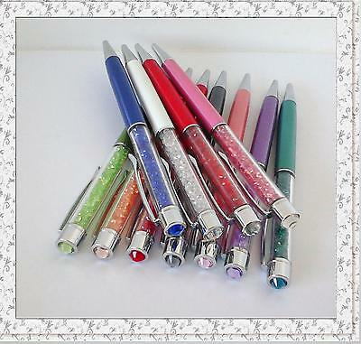 HIGH QUALITY- NEW DESIGN- Crystal Ballpoint Pen Made with RHINESTONE IN CAP