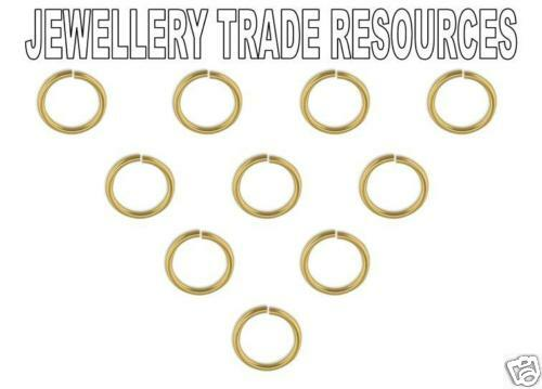 10x  9ct Yellow Gold 3mm Diameter Jump Rings using 0.5mm wire Jewellery Making