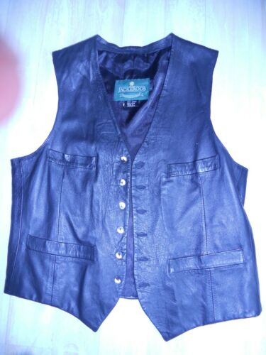 vintage man's lamb leather vest sz lge by Jackeroo
