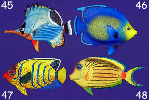 "54 Tropical Fish Wall Plaque 6/""X4/""~Nautical Beach Sealife Decor~ Selections"
