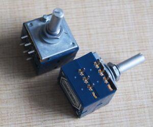 Alpen-RK27-Volume-Potentiometer-Dual-50K-50KAX2-geschlitzt-Japan