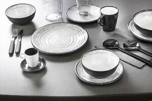 MARINE LUXURY MELAMINE Table Set With Non Slip Non Rattle Base CARAVAN PLATES