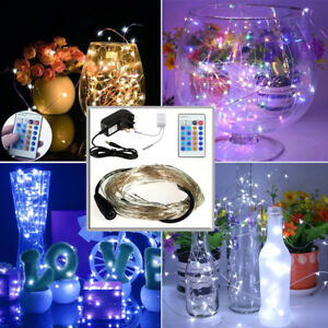 100led Copper Bendable Flash Static Starry Fairy Lights