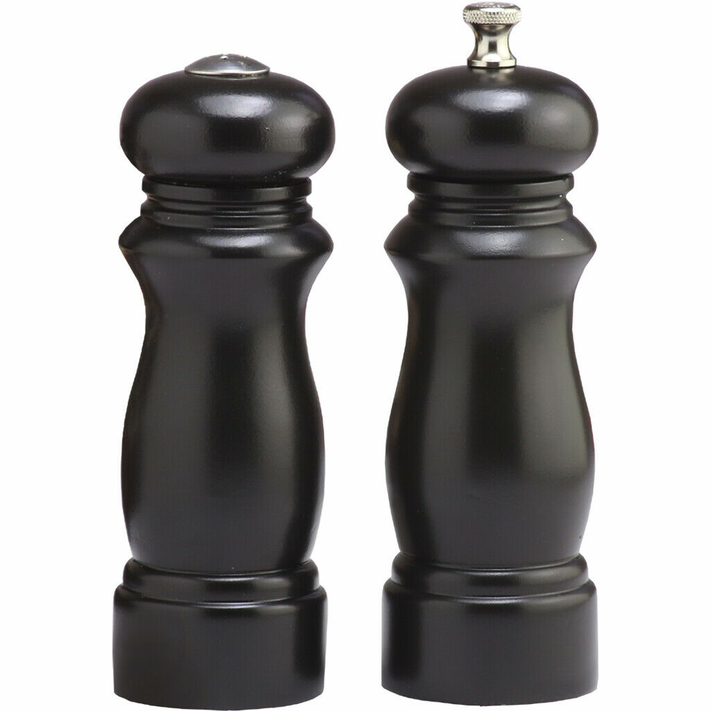 Chef Specialties 6  Salem Pepper Mill & Sel Shaker Set-Ebony