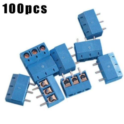 Gerade Terminal Schraube Anschluss Blau 100pcs Pitch Stange Werkzeug Praktische