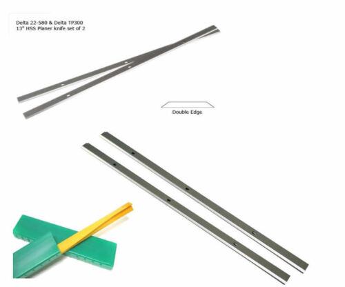 Pack 2 compatibles Raboteuse Couteaux 13 pouces pour Delta TP300 22-549 22-580