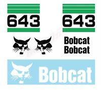 Bobcat 643 Skid Steer Set Vinyl Decal Sticker Aftermarket