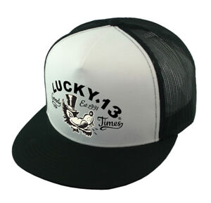 21b2edf3 Lucky 13 snapback Hat Trucker Cap Mr. Wolf good times Hot Rod Kustom ...