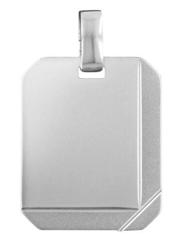 Trendor joyas de plata grabado disco 87318 con grabado gratuito