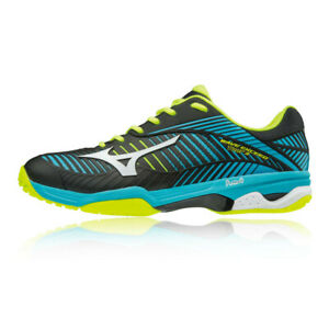 Mizuno-da-uomo-Wave-Exceed-Tour-3-All-Nero-Scarpe-Da-Tennis-Court-Blu-Sport-Scarpe-Da-Ginnastica
