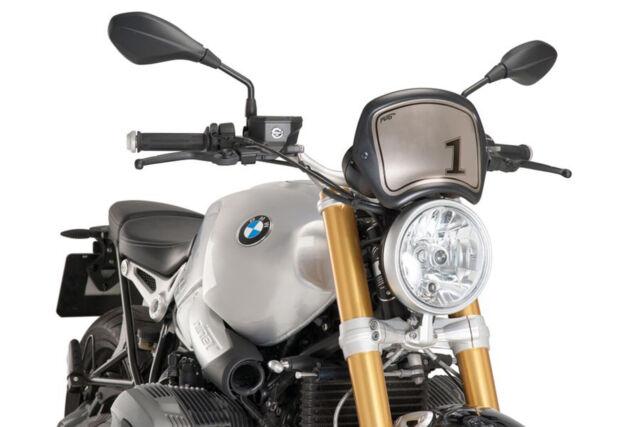 PUIG FRONT PLATE BMW R NINE T 14-18 MATT BLACK