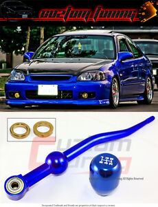 Fit 1988-2000 Honda Civic//CRX//Del Sol //1990-2001 Acura Integra Dual Bend Short Throw Shifter Black Manual Transmission