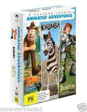 Tad The Lost Explorer / Khumba / Justin And The Knights Of Valour  = NEW DVD