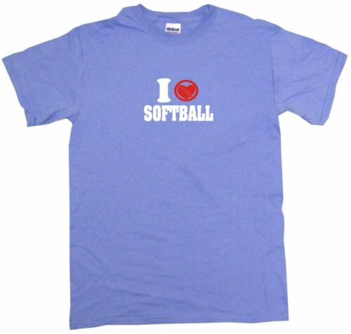 I Don/'t Like Heart Crossed Out Softball Womens Tee Shirt Pick Size Color Style
