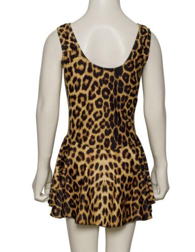 KDR005 Variety Of Animal Prints Sleeveless Leotard With Skirt Dress By Katz