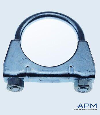 10 St Auspuffschelle Rohr-Bügel Schelle U-Bolt Clamp M8 x 36mm Flachbügelschelle