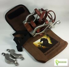 Equine Dental Speculum MINI Horse PONY Mouth Gag Stainless Steel Leather + Case