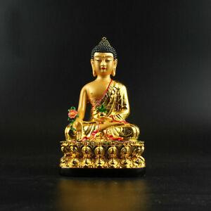 China-Resin-Gild-Buddhism-Shakyamuni-Menla-Medicine-Buddha-Medical-God-Statue