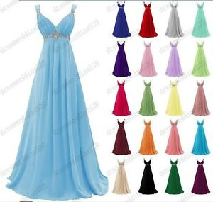 New Long Formal Evening Ball Gown Party Prom Bridesmaid Dress Stock