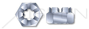 100-pcs-3-4-034-10-Slotted-Castle-Nuts-Steel-Zinc