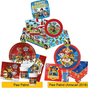 PAW PATROL Birthday Party Ranges Tableware Supplies Balloons Banners Decorations