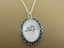 Semi Colon My Story Isn't Over Yet Necklace New Gift Bag Mental Health Awareness