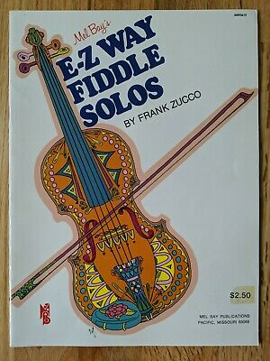 "MEL BAY/'S /""EASY FIDDLE SOLOS/"" MUSIC BOOK//CD-NEW ON SALE SONGBOOK-MB/'S VALUE LINE"