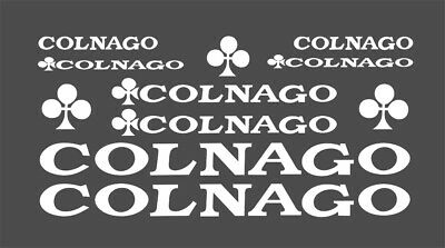Colnago Bicycle Bike Frame Decals Stickers Adhesive Graphic Set Vinyl White