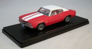 Autoworld-Resin-1-43-Model-Car-Chevy-Chevelle-SS-1970-Red