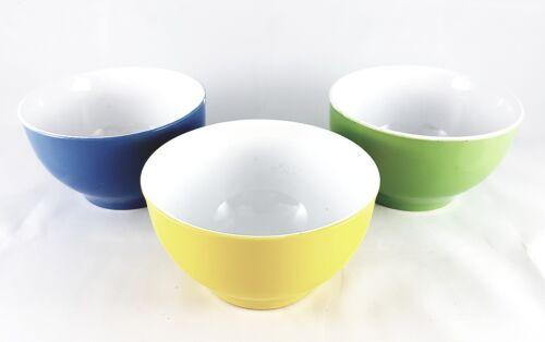 Wellgro Suppenschalen Müslischalen Schüssel Salatschüssel Blau Grün Gelb 680ml