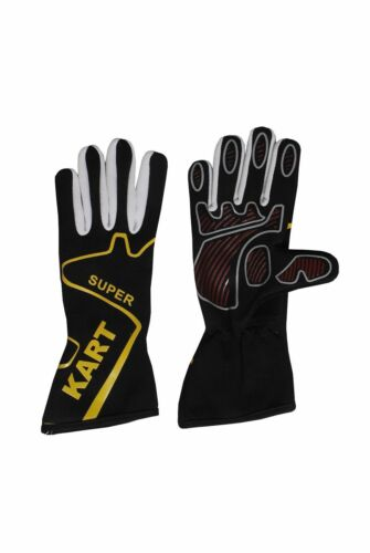 BLACK Kart Gloves GO Kart Gloves Karting Gloves Kart Racing Gloves Racing Glove