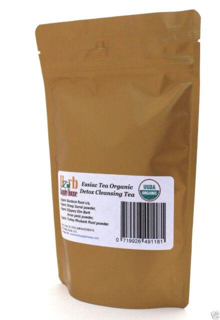 Essiac Tea Organic 3.2oz, Blood Detox, Makes 1 gallon Powder & Cut/Sifted Herbs