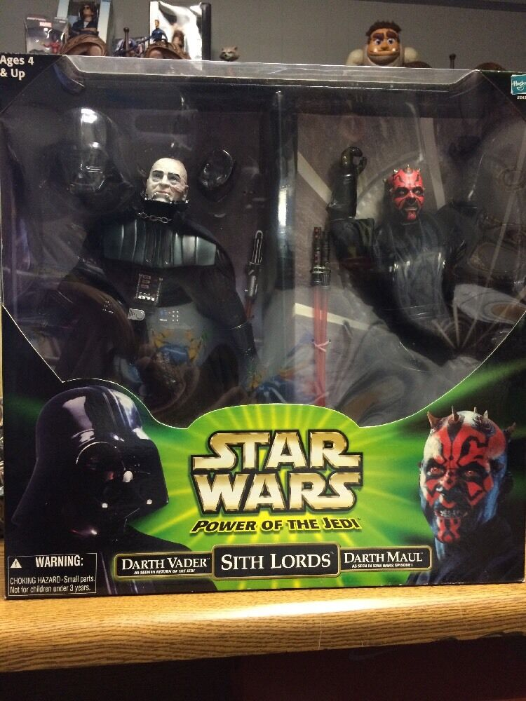 Hasbro - star - wars - macht jedi - sith - lords - darth vader darth maul 2-figure...