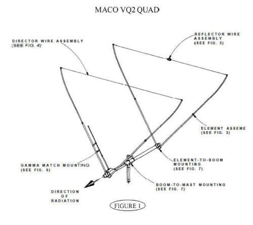 Small Beam Antenna QUALITY THAT LASTS !!! MaCo V-Quad Dual Polarity