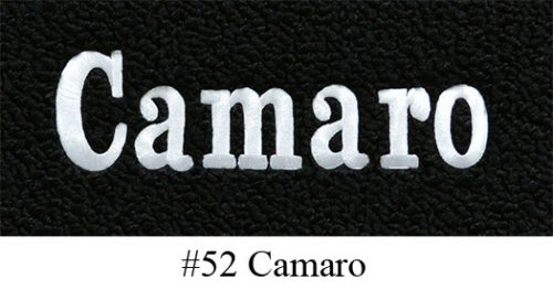 Premium Contour 2pc Front LoopFits 1967-1969 Chevy Camaro Floor Mats