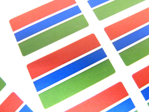 Mini Sticker Pack, Self-Adhesive Gambia Flag Labels, FR126