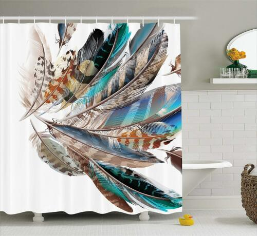 Paris New York Landmark Eiffel Tower Empire Philly India Feather Shower Curtains