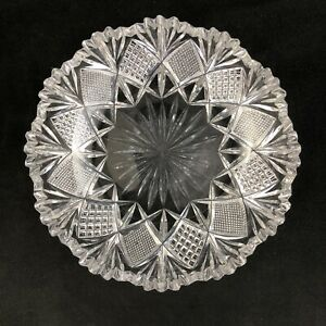 Antique-Hawkes-ABP-Cut-Glass-No-1-Pattern-6-034-Bowl-Signed