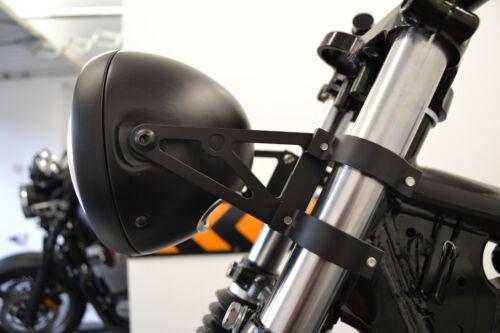 Headlight Brackets for Motorbike Cafe Racer 52 53mm Black Fork Mounted