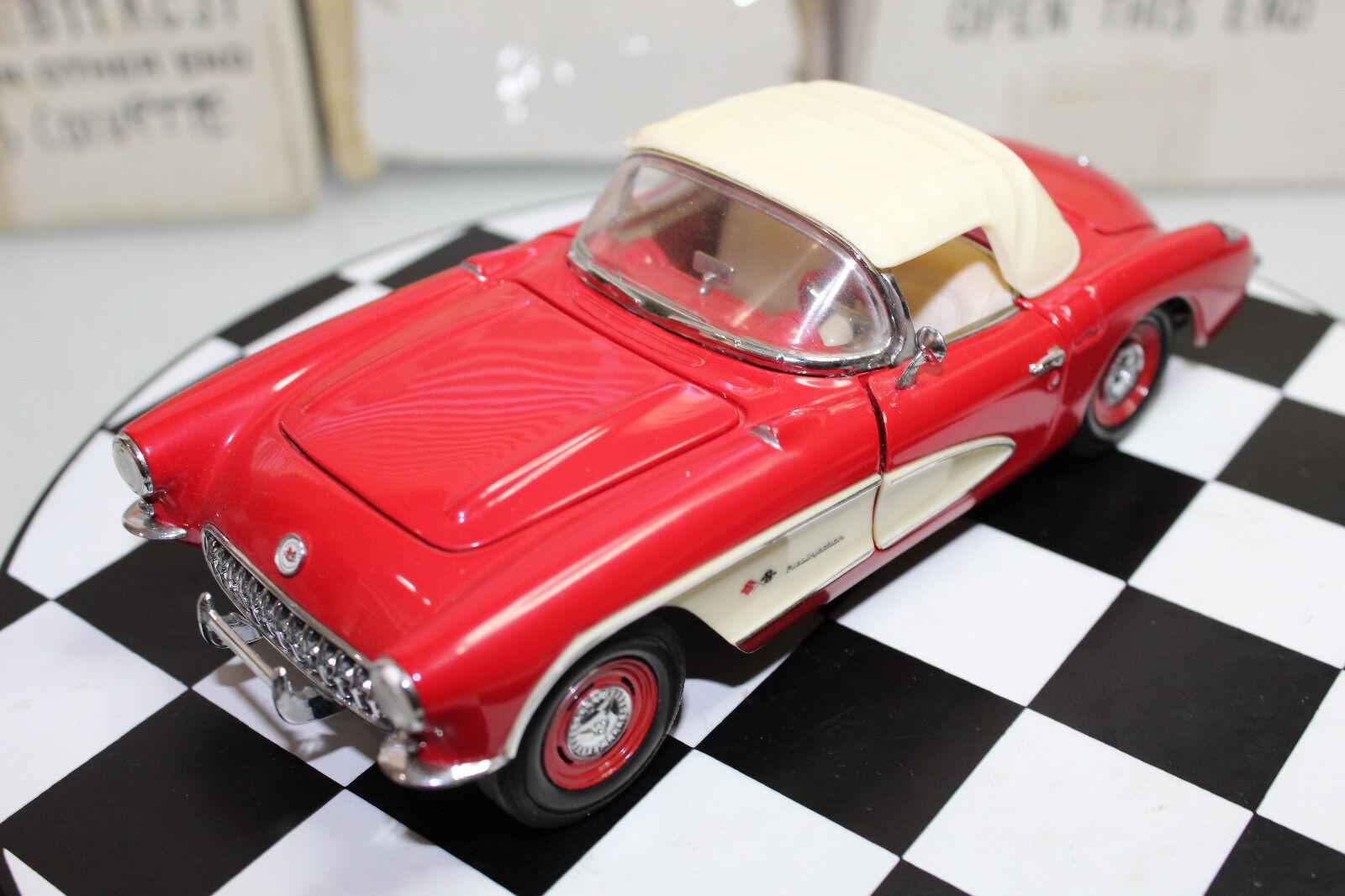 Franklin Mentha 1  24, 1957 Chevrolet Corvette (rojo)